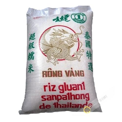 El arroz pegajoso fragante largo del DRAGÓN de ORO de 18 de Tailandia