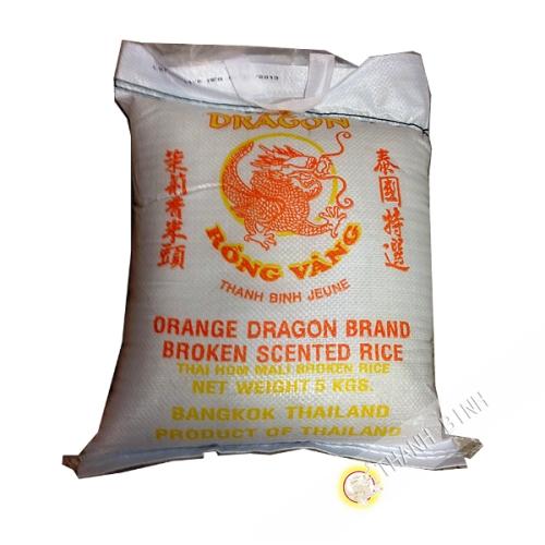 Riz parfumé cassé 2 fois DRAGON OR 5kg Thailande