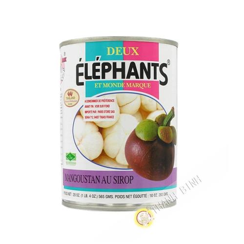 Mangoustan au sirop ELEPHANTS 565g Thailande