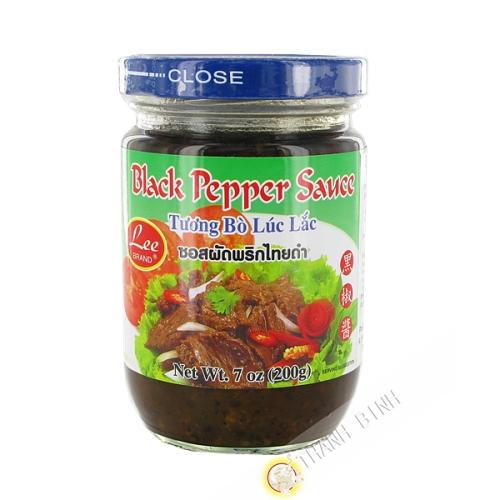 Salsa de pimienta negra LEE 200g de Tailandia