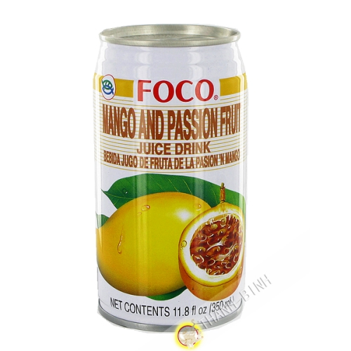 Mango juice & fruit passion FOCO 350ml Thailand