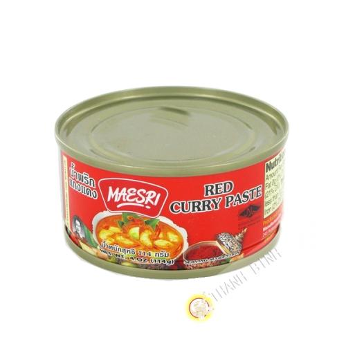 Pâte de curry rouge MAESRI 114g Thailande