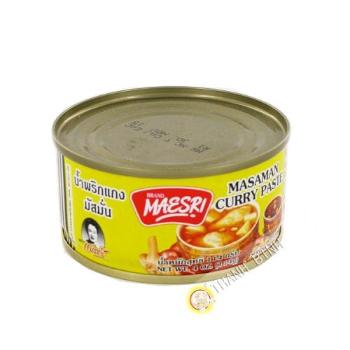 Pâte de curry jaune MAESRI 114g Thailande
