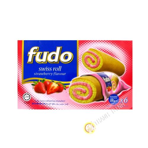 Roule fraise FUDO 6x18g Malasie