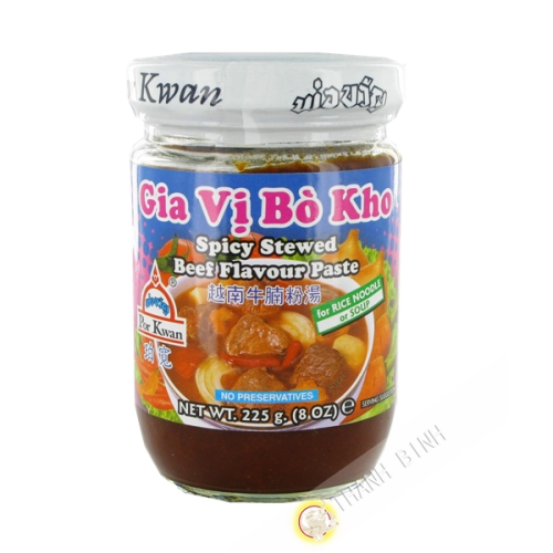 Salsa de guiso de carne de res Bo Kho POR KWAN 225g Tailandia