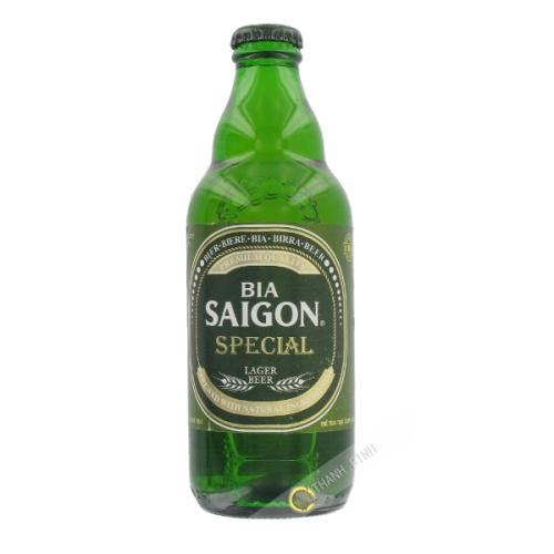 La cerveza Saigón verde botella SABECO 330 ml de Vietnam