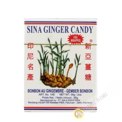 Bonbon gingembre SINA 56g Indonésie