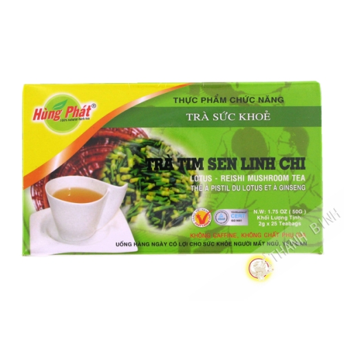 Tea pistil of the lotus, and ginseng - 25x2g - Vietnam - By plane
