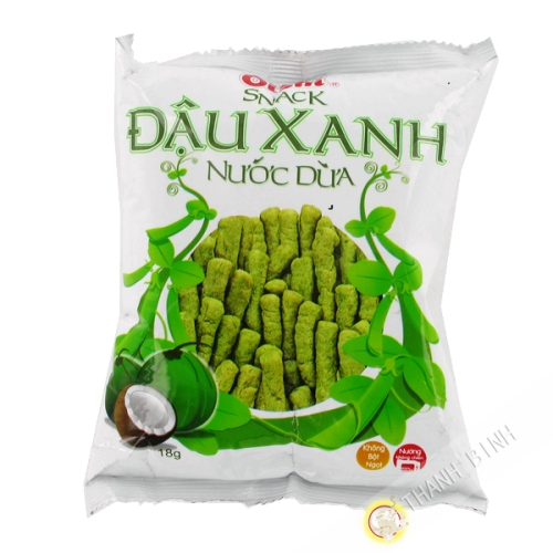 Snack Mung Bean Coconut Oishi 18g Vietnam