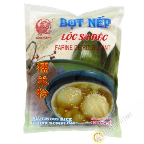 La harina de arroz glutinoso DRAGÓN de ORO 400g de Vietnam