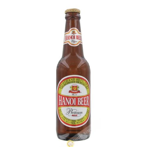 La cerveza Hanoi botella HABECO 330 ml de Vietnam