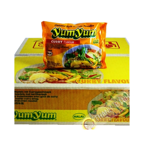 Fideos instantanee Yum yum curry 30x60g - Tailandia