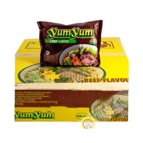 Fideos instantanee Yum yum de la carne de vacuno 30x60g - Tailandia
