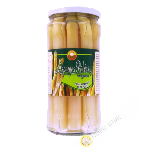 Asparagus peeled average PSP 680g China