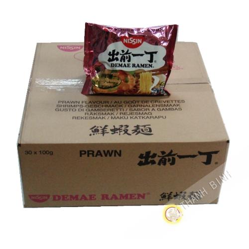 Soup noodle Ramen Demae shrimp NISSIN cardboard 30x100g Hungary