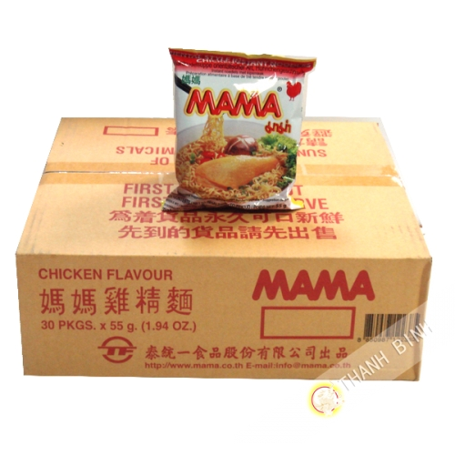 Soup noodle chicken MAMA Cardboard 30x55g Thailand