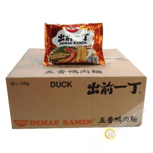 Soup noodle Ramen Demae duck NISSIN cardboard 30x100g Hungary