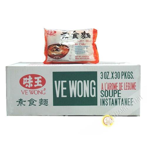 Soupe nouille végétarien VE WONG carton 30X85g Taiwan