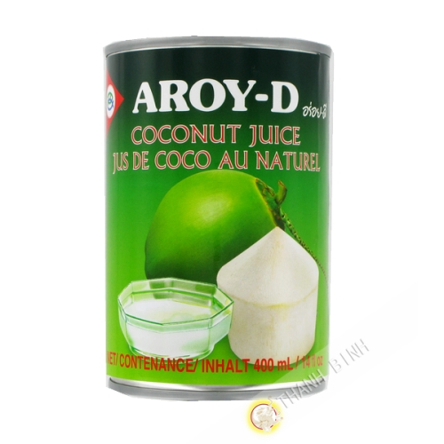 Juice coconut natural AROY-D 400ml Thailand