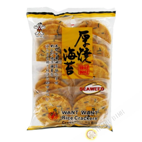 Crackers rice seaweed WANT WANT 160g Taiwan
