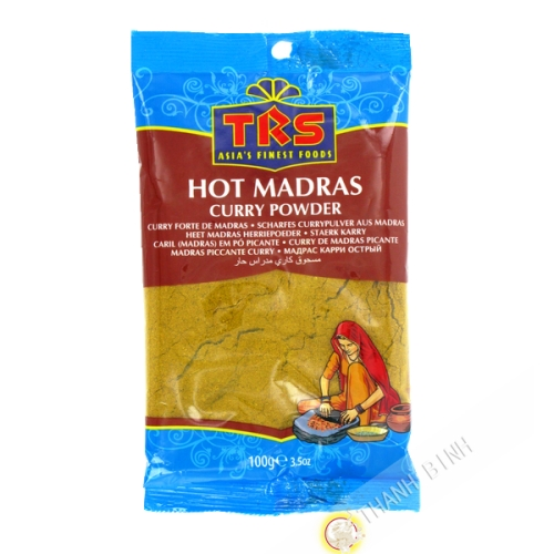 Madras curry en poudre hot TRS 100g Inde