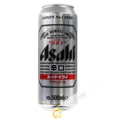 La cerveza Asahi Super Dry en una lata de 500ml Japón