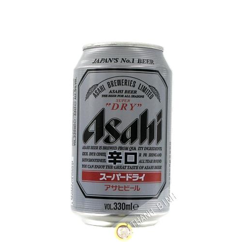La cerveza Asahi Super Dry en latas de 330 ml de Japón