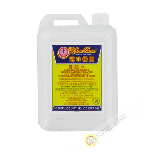 Eau de potasse sodium bi-carbonate KOON CHUN 1.92l Hong Kong