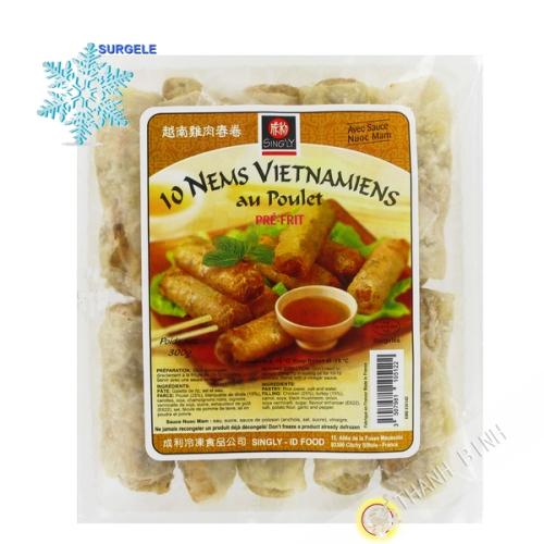Los rollitos de primavera Vietnamitas pollo 10pcs INDIVIDUALMENTE 300g Francia - SURGELES