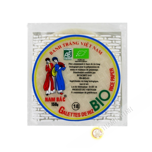 Pastel de arroz BIO 150g de 18cm