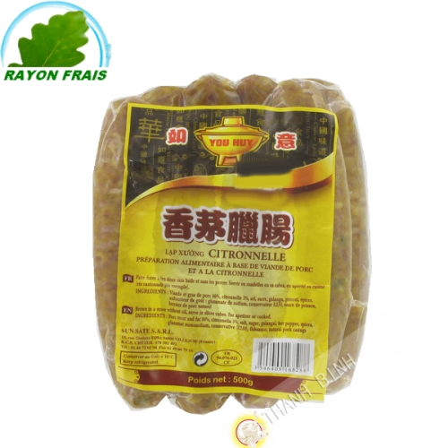 Sausage lemongrass YOU HUY 500g France