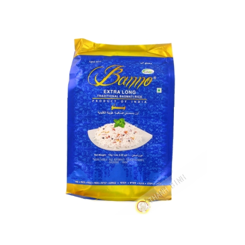 Arroz Basmati de grano largo BANNO 1kg India