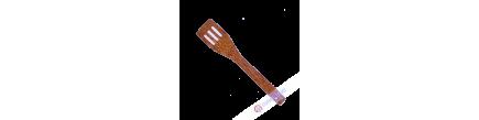 Spatule à trous en bois 5,5x30cm Vietnam