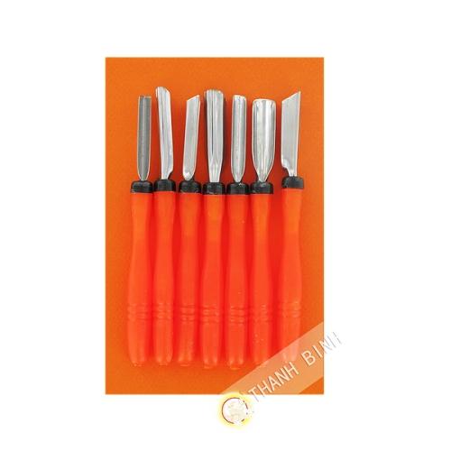 Utensil Kit of 7 tools for decor fruit 14.5 cm Vietnam