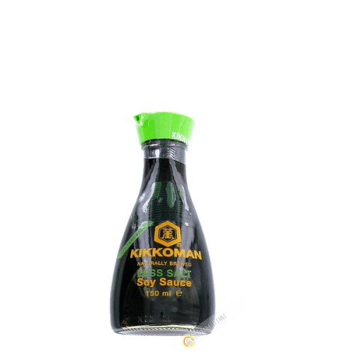 Soy Sauce, light 43% salt in less KIKKOMAN 150ml Holland