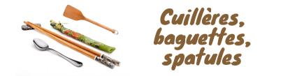 Baguettes, cuillière, écumoire