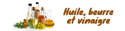 Aceite, Mantequilla, Vinagre