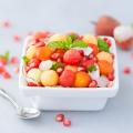Salade de fruits litchi et mangue